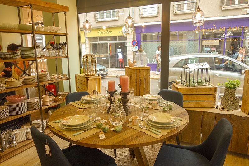 """Boutique déco """"Chez Georgette"""" à Blois : table de réception"""