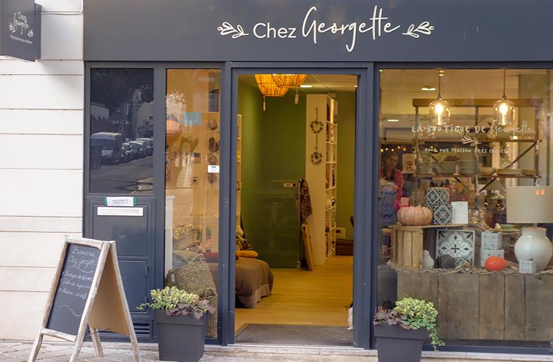 """Devanture boutique déco """"Chez Georgette"""" à Blois"""